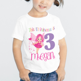 Lil Princess Personalized Birthday T-Shirt for Kids