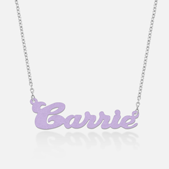 Sterling Silver Colored Name Necklace