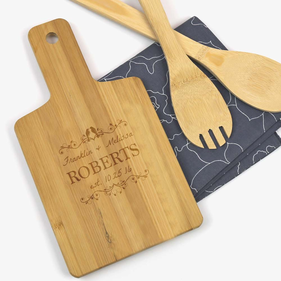 Love Birds Personalized Wooden Serving Board