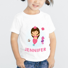 Mermaid Princess Custom T-Shirt for Girls