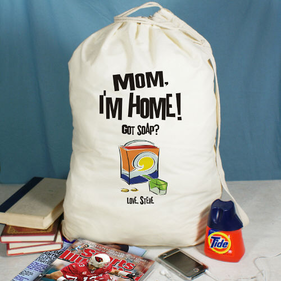 Mom, I'm Home! Personalized Laundry Bag