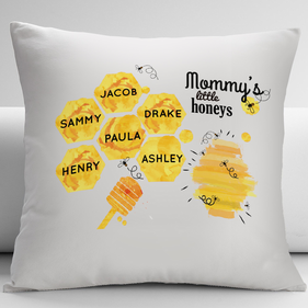 Mommy's Little Honeys Personalized Decorative Cushion Cover