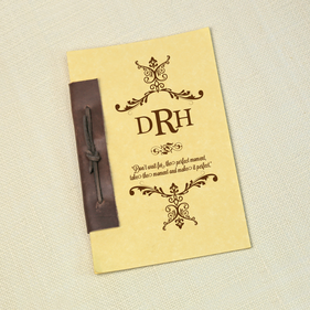 Monogram Antique Style Notebook
