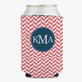 Monogram Can Beverage Custom Holder