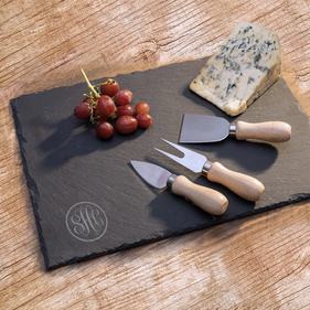 Personalized Monogram Slate Serving Tray