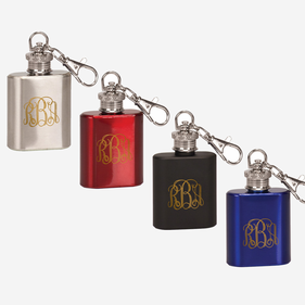Script Monogram Flask Key Chain