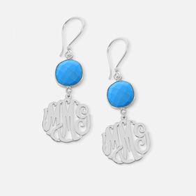 Monogram  Gemstone Earrings