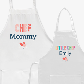 Mother Daughter Personalized Chef Apron
