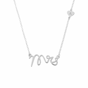 Mrs Sterling Silver Personalized Necklace