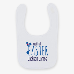 My First Easter Personalized Baby Bib