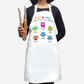 My Kids Are A Hoot Personalized Owl Apron