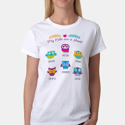 My Kids Are A Hoot Personalized Owl T-Shirt