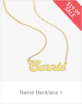 $19.99 Name Necklace Sale - use code NAME19