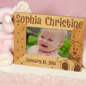 New Baby Wood Picture Frame