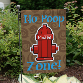 No Poop Zone Garden Flag