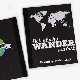 Not All Who Wander Are Lost Personalized Notebook