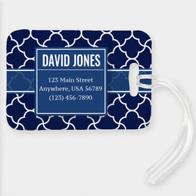 Personalized 123 Main Street Luggage Tag