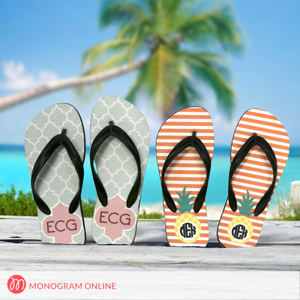 Personalized Adult Flip Flops