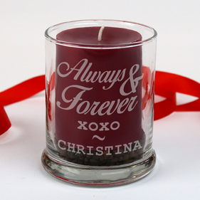 Personalized Always and Forever Candle Holder