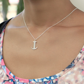 Personalized Anchor Monogram Necklace