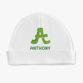 Personalized Animal Initial Baby Cap