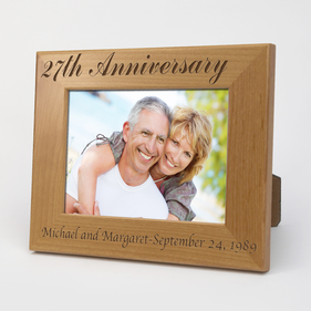 Personalized Anniversary Wood Picture Frame