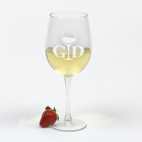 Personalized Arc Cachet White Wine Glass