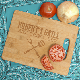 Personalized  Bamboo Rectangle Cutting Board