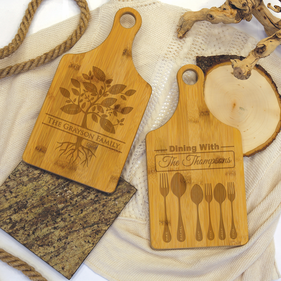 Personalized Bamboo Family Serving Board