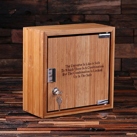 Personalized Bamboo Storage Safe Box