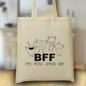 Personalized  BFF Design Tote Bag