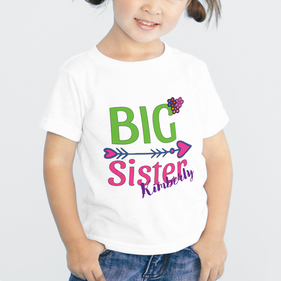 Personalized Big Sister T-Shirt for Girls