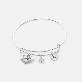 "Personalized ""Bride"" Bangle"