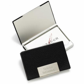 Personalized Business Card Case in Leather