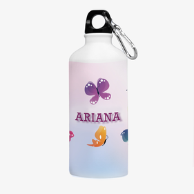 Personalized Butterfly Aluminum Water Bottle