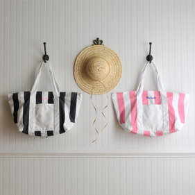 Personalized Stripped Tote