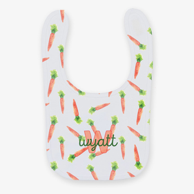 Personalized Carrots Baby Bib
