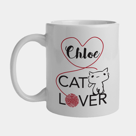 Personalized Cat Lover Ceramic Mug