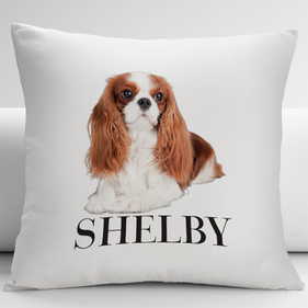 Personalized Cavalier King Charles Spaniel Pets Decorative Cushion Cover