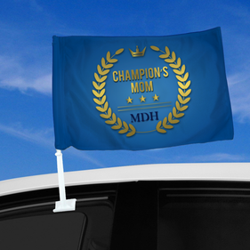 Personalized Champion's Mom Car Flag