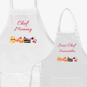 Personalized Chef and Sous Chef Apron