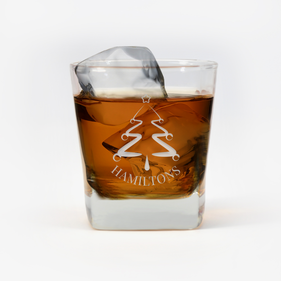 Personalized Christmas Whiskey Glass