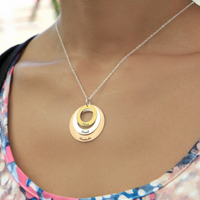 Personalized Triple Circle Necklace