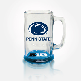 Personalized College Team Bottoms-Up Mug
