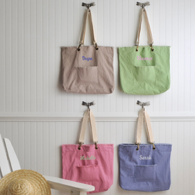Personalized Colorful Totes