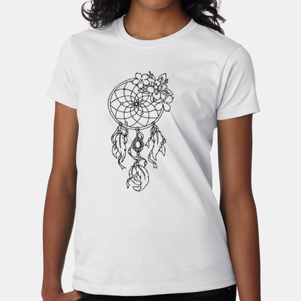 Personalized Coloring Dream Catcher T-Shirt for Women