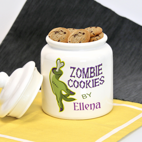 Personalized Halloween Cookie Jar