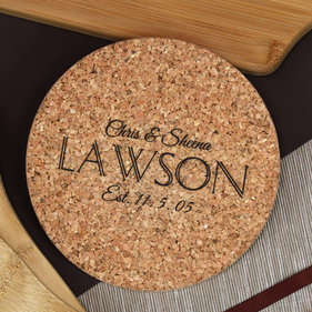 Personalized Cork Hot Pad