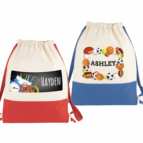 Personalized Cotton Canvas Drawstring Backpack