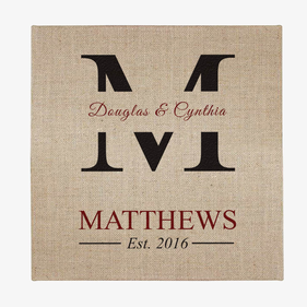 Personalized Couple Jute Canvas